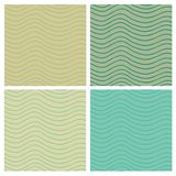 Wavy stripes seamless set Royalty Free Stock Image