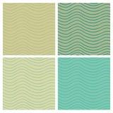 Wavy stripes seamless set Royalty Free Stock Image