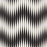 Wavy stripes vector seamless pattern. Retro wavy engraving texture. Geometric zigzag lines design.n Royalty Free Stock Photos