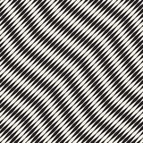 Wavy stripes vector seamless pattern. Retro wavy engraving texture. Geometric zigzag lines design.n Stock Images