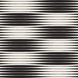 Wavy stripes vector seamless pattern. Retro wavy texture. Geometric lines monochrome design. Royalty Free Stock Image