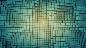 Wavy surface of cubes abstract 3D rendering. Wavy surface of cubes. Abstract geometric background. Computer graphic image. 3D rendering royalty free illustration