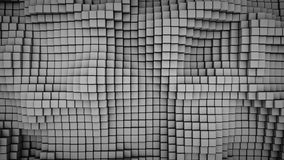 Wavy surface of gray cubes abstract 3D rendering. Wavy surface of gray cubes. Abstract geometric background. Computer graphic image. 3D rendering vector illustration