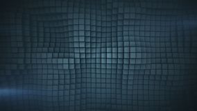 Wavy surface of gray cubes abstract 3D rendering. Wavy surface of gray cubes. Abstract geometric background. Computer graphic image. 3D rendering royalty free illustration