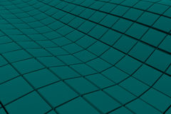 Wavy surface made of cubes. Abstract background, 3d render illustration Stock Photo