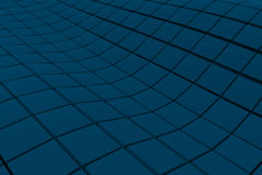Wavy surface made of cubes. Abstract background, 3d render illustration Royalty Free Stock Photo