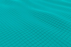 Wavy surface made of cubes. Abstract background, 3d render illustration Royalty Free Illustration