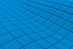 Wavy surface made of cubes. Abstract background, 3d render illustration Royalty Free Stock Images