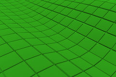 Wavy surface made of cubes. Abstract background, 3d render illustration Stock Image