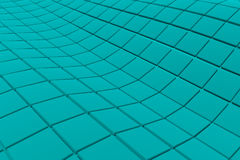 Wavy surface made of cubes. Abstract background, 3d render illustration Stock Images
