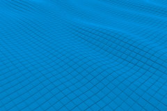 Wavy surface made of cubes. Abstract background, 3d render illustration Stock Photos