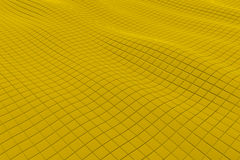 Wavy surface made of cubes. Abstract background, 3d render illustration Stock Photography