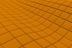 Wavy surface made of cubes. Abstract background, 3d render illustration Royalty Free Stock Photography