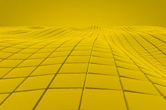 Wavy surface made of cubes. Abstract background, 3d render illustration stock illustration