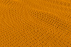 Wavy surface made of cubes Stock Photography