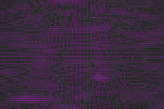 Wavy surface made of cubes with glowing background. Wavy surface made of black cubes with glowing background, abstract background, 3d render illustration Stock Photos