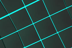 Wavy surface made of cubes with glowing background. Wavy surface made of black cubes with glowing background, abstract background, 3d render illustration Stock Image