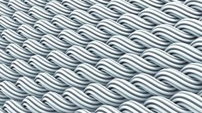 Wavy surface of white curles ornament abstract 3D rendering. Wavy surface of white curles. Computer generated ornament. Abstract 3D rendering vector illustration
