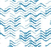 Wavy technical lines seamless pattern, vector abstract repeat endless background. Wavy technical lines seamless pattern, vector abstract repeat endless stock illustration