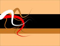 Wavy tendrils background. Wavy tendrils with black and brown background Royalty Free Illustration