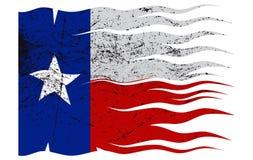 Wavy Texas Flag Grunged Royalty Free Stock Photo