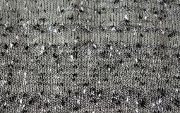 Knitted texture of boucle thread. The wavy texture of the fabric knit from yarn boucle Stock Photo