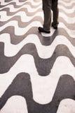 Wavy textured floor. Stock Image