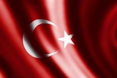 Wavy turkish flag Stock Image