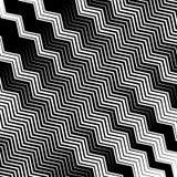 Wavy, undulating lines geometric monochrome pattern. Slanted lin. Es with waving distortion Stock Photo
