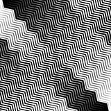 Wavy, undulating lines geometric monochrome pattern. Slanted lin. Es with waving distortion Stock Photos