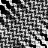 Wavy, undulating lines geometric monochrome pattern. Slanted lin. Es with waving distortion Stock Image