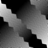 Wavy, undulating lines geometric monochrome pattern. Slanted lin. Es with waving distortion Stock Images