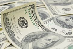 Wavy US dollar bill Stock Photo