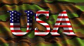 Wavy USA camouflage flag Stock Images