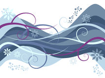 Wavy Vector Royalty Free Stock Images