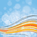 Wavy Vector Background Royalty Free Stock Image