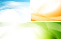 Wavy vector backgrounds set Stock Photo