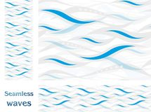 Wavy vector seamless pattern design Royalty Free Stock Photography