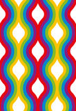 Wavy vertical rainbow seamless pattern. Stock Photos