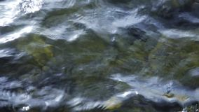 Wavy water edge of Lake Traunsee near Gmunden in Upper Austria. On a cold morning in spring stock footage