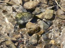 Wavy Water Surface Rocks Royalty Free Stock Photography
