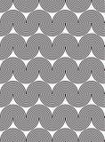 Wavy, waveform lines seamless pattern. Design Stock Images