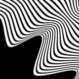 Wavy, waving lines. Lines, stripes with distortion effect. Abstr Royalty Free Stock Photos