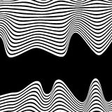 Wavy, waving lines. Lines, stripes with distortion effect. Abstr Royalty Free Stock Photo