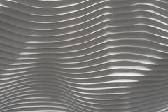Wavy white bumby 3d surface wall. White background wave like textured wall background Royalty Free Stock Photos