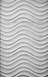 Wavy white wall. Detail of a wall decorated Royalty Free Stock Photography