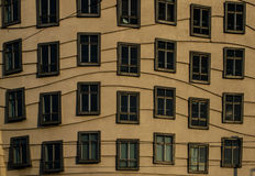 Wavy windows of the dancing house Stock Image
