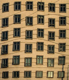 Wavy windows at fred & ginger prague Royalty Free Stock Image