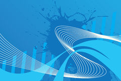 Wavy Wires Layout Stock Photography