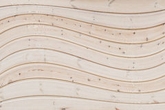 Wavy, wooden background Royalty Free Stock Image